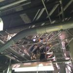 WELDING IN A TIGHT SPOT AT METRO HQ BUILDING UPGRADE